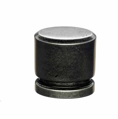 "Small Oval Knob 1"" - Pewter Antique"