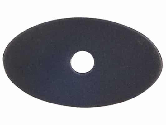 "Small Oval Backplate 1 1/4"" - Flat Black"